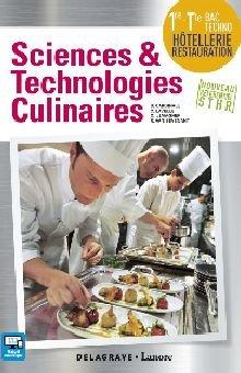 STHR Livre de sciences et technologie culinaires - Classe Première Terminale